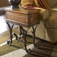 14W x 24D x 26H Riverside Stone Forge Chairside Table - $362.25 @hayneedle
