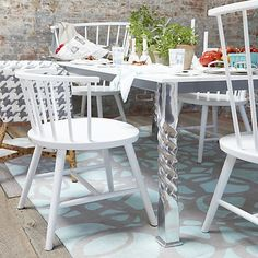 Mallorca Rectangular White Top Dining Table | Crate and Barrel
