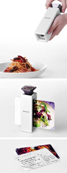 This printer concept captures visuals and scent to print postcards that preserve the scent of the moment.