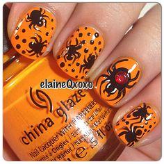 nail arts, nail nailart, nail design, spider nail, halloween nail art, halloween spider, halloween nails
