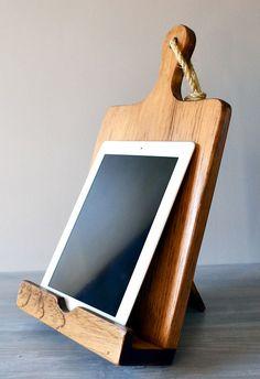 Wood Cutting Board Cookbook  iPad Stand