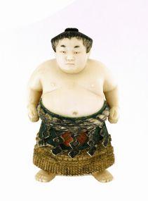 Old Japanese Ivory Sumo Wrestler Netsuke Ichiro