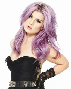 Kelly Osbourne and her  beautiful lavender hair