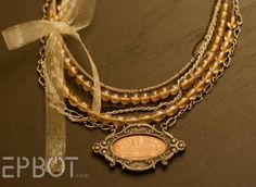 Make a pressed penny necklace