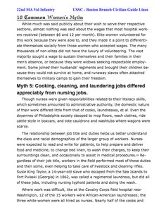 Page 5 Excellent read on women in the war. focus on USSC debunking some of the romanticized views. Class warfare, etc. Names to learn and use in impression