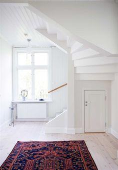 vintage rug on white