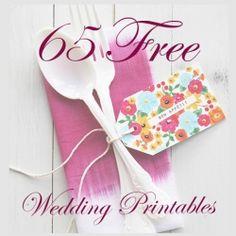 65 FREE Wedding Printables!
