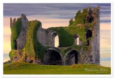 From Ireland, Ballycarbery Castle, Ring of Kerry. When we visited this place, the castle was occupied by a couple of cows!