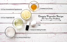 Doggie Pupcake Recipe via @poochpawty #dog #dogtreats #dogbirthday