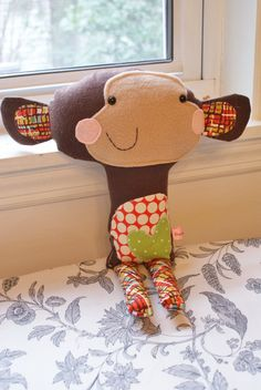 Mr. Elephant softie toy plush doll made to order by DunlapLove