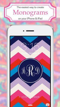 iPhone App creates monograms