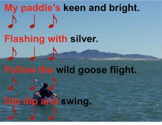 Beth's Music Notes: Canoe Song  4th Grade....syncopation, orff