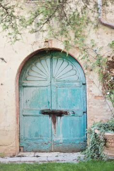 Blue Door in Tuscany   photography by http://rochellecheever.com