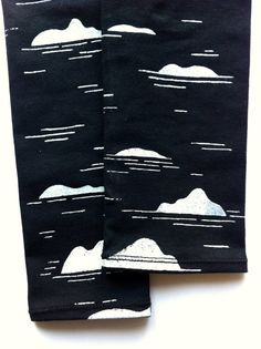 Hand printed ISLANDS baby and kid leggings on soft black organic cotton. 0-6m / 6-12m / 12-18m / 2T / 3T / 4T