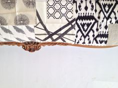 Beautiful black and white swatches in the showroom....