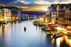 Famous grand canale from Rialto Bridge #Venice, Italy