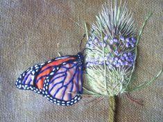 Hand Embroidery Network butterfli, hand embroidery, craft, hand embroideri, van kampen, appliqu, embroideri network, thistl, jo van