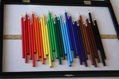 Colored pencil art.