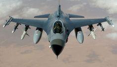 loaded F-16