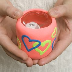 For Teen Astrology program: DIY Oracle of Love (Magic 8 Ball) - uses clay & a baby food jar!