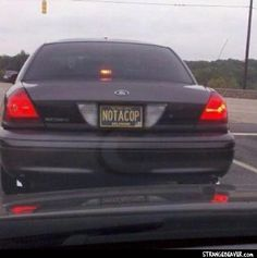 ... Good to know, I suppose! #license #plate #cars #cops