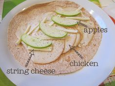 Lovely Little Snippets: Chicken & Apple Wrap