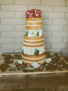 Naked Wedding Cake