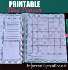 Printable Blog Planner from @infarrantly, featured @printabledecor1