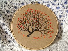 embroidery hoop crafts | Free-shipping-Embroidery-Hoop-Art-with-maple-design-for-home-wall ...