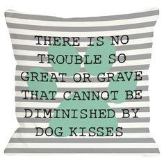 kiss pillow, dog kiss, pet, throw pillows, quot
