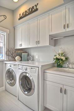 organized laundry room, laundry room storage, cabinets for laundry room, laundry cabinet, laundry storage, organ laundri, dream laundry rooms, laundri room, laundry design