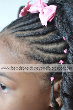 Beads, Braids and Beyond: Little Girls Natural Hairstyle: Flexi-rod Set & Flat Twists on 4b Hair