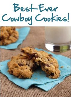 Best-Ever Cowboy Cookies Recipe! #cookie #recipes
