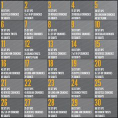 30 day challenge, 30 day ab and squat challenge, ab challenge, the challenge, abs and squats challenge