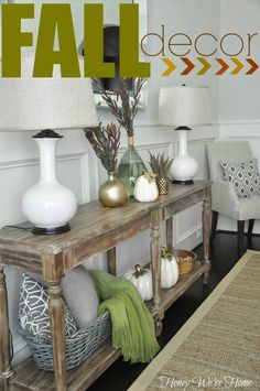 Fall Decor // Console Styling