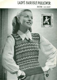 Vintage Fair Isle vest - cute!