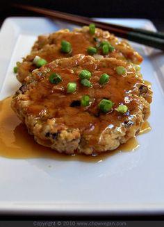 vegan: tofu egg foo yung...