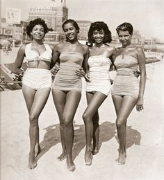 This fabulous photo of beautiful friends (sisters? cousins?) has been making the rounds for eons online. However, I am finally able to post this with a credit thanks to two VBG Facebook fans. This is one of thousands shot by Philadelphia photographer John W. Mosley from the 1930s through the 1960s on Chicken Bone Beach in Atlantic City, NJ. Photo: John W. Mosley, Courtesy of the Charles L. Blockson Afro-American Collection, Temple University Libraries.
