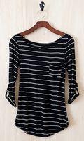 Perfect Everyday Shirt, Black Stripes