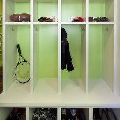 School Bag Storage on Pinterest