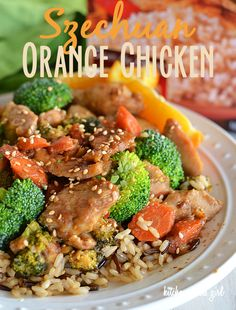 Szechuan Orange Chicken under 300 calories!