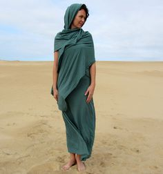 The Love Me 2 Times Long Sari Dress organic by gaiaconceptions, $175.00