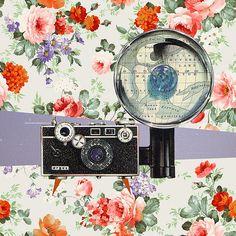 camera, collag, design art, illustrationgraph designart
