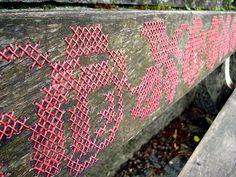 cross stitch graffitti