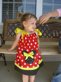 Minnie Mouse Classic Pillowcase Dress extra for by STLGIRL on Etsy, $20.00