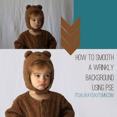 #photo #editing #tips: how to #smooth out a #wrinkled #background using #Photoshop #Elements | great tutorial with step-by-step screenshots