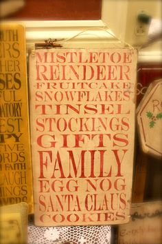 PRIMITIVE or SHABBY Christmas Collage Sign by AmericasFrontPorch, $35.00