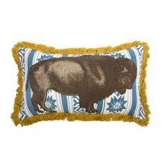 {Bison Pillow 20x12 Cadet} Thomas Paul
