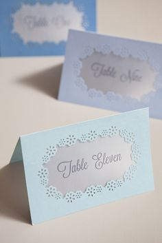 DIY instructions from Something Turquoise for hand-punched table number cards with the brand new Frame Border Punch from #marthastewartcrafts