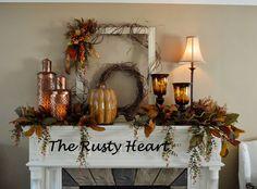 Rusty Heart Designs: Fall Mantel #2!